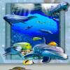 Бесплатная доставка пользовательских гостиной ванной комнаты украшения 3D Подводный мир фона стены обои пол рулон 250cmx200cm