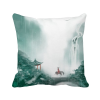 Mountain Rain Mo Chinese Watercolor Polyester Toss Throw Pillow Square Cushion Gift custom polyester leaning cushion covers pillowslip 15 7 x 15 7 square throw pillow case