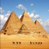 Пользовательские 3D фото стены бумаги Большая роспись Blue Sky Пирамида Современные Простые фото стола Гостиная Кафе Декор Papel De Parede 3D blue sky чаша северный олень