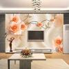 Пользовательские обои для фото обои Роскошные виллы TV Backdrop Papel De Parede 3D Обои для стен Теплые розовые настенные обои Домашний декор декор для стен