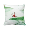 Riding A Horse Go Chinese Watercolor Polyester Toss Throw Pillow Square Cushion Gift