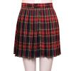 Стиль Preppy Японская школьница Плед Плиссированная юбка Высокая талия Короткие юбки тартана Юбки Джазовые танцевальные костюмы
