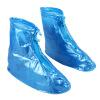 Jiesheng дождь сапоги дождь сапоги мужчин и женщин общий водонепроницаемый противоскользящий сапоги дождь толстый плоский синий 42-43