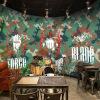 На заказ 3D-роспись камуфляжной росписи обои бар-зал Кафе Ресторан аркада забавная тема ручная роспись граффити обои на заказ 3d роспись бар ресторан ресторан кафе фон ретро 3d американо граффити роспись