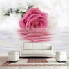 Романтическое розовое перо Отражение на воде Фото обои Современное искусство Дизайн интерьера Декор Фрески 3D Красивые цветочные обои