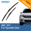 SUMKS Wiper Blades for Hyundai Getz 22&14 Fit Hook Arms 2003 2004 2005 2006 2007 2008 2009 2010 2011 sumks wiper blades for hyundai trajet 26