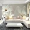 Пользовательские 3D-обои для рабочего стола Декорации для стен 3D Magnolia Mural Painting Bedroom TV Background Домашний декор Обои для стен Wall Wallover декор для стен
