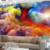 Пользовательские 3D-красочные облака фотообои для гостиной 3D большие настенные обои Современные креативные обои на стене ТВ-фон фон для презентации черный