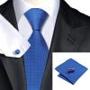 n-0429 Vogue мужчин шелковым галстуком набор голубой твердых галстук платок запонки установить связи для мужчин официальный свадебный бизнес оптом жидкое стекло где оптом