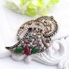 винтаж женщин - турецких брошь многоцветные смолы цветок драгоценностей и вырубить старинные золотые цвета брошь broches фестиваля брошь divetro брошь
