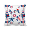USA Gift Firework Star Festival Pattern Square Throw Pillow Insert Cushion Cover Home Sofa Decor Gift decor and gift