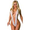 CXSHOWE Женщины Сексуальное женское белье Открытое переднее бикини Комплект Тедди Bodysuit Нижнее белье Нижнее белье Черный нижнее белье