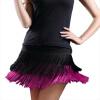 леди Танцы юбка для танцев женские с двумя кисточками Костюмы для латиноамериканских танцев юбка для танцев бахромой юбка содержит