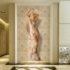 Пользовательские обои Mural 3D стереоскопические европейские цветочные узоры Body Art Mural Living Room Спальня Входные прихожие обои