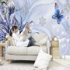 Пользовательские фото обои Европейский стиль Цветочный узор Бабочка фон Декоративные обои стены стены гостиной диван