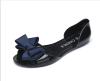 Akane 2018 осенние плоские ботинки хрустальные ботинки пластиковые bowknot рыбы рот сладкий лук открытый носок плоские туфли случа ботинки
