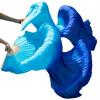Шелковая вуаль для танец живота Аутентичные шелковые вуали Аксессуары для танцев живота Бирюзовый + Королевский синий мицелий грибов шампиньон королевский субстрат объем 60 мл