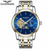 цены на GUANQIN  Мужские часы бизнес водонепроницаемые автоматические механические часы полые спортивные часы в интернет-магазинах