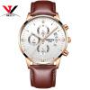 NIBOS Мода часы Для мужчин Топ Элитный бренд спортивные кварц-часы кожаный ремешок Водонепроницаемый Для мужчин часы наручные грузы для выпечки