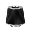 Ryanstar Racing Universal 3'' Car Truck 155mm Height Cold Air Intake Cone Air Filter chrome air cleaner cone intake filter for honda shadow ace aero spirit 750 1100