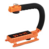 YELANGU S2-2 YLG0106B-B C-образная видеокамера DV Bracket Stabilizer для всех зеркальных камер и домашней камеры DV (оранжевый)