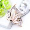 Мода Романтические женские бабочки Брошь Женщины выдолбленный Rhinestone цветок Насекомые Броши Броши Опал ювелирные изделия отвор броши only happy брошь