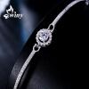 Только модели (Вини) серебряный браслет женский 925 серебряных ювелирных изделий с бриллиантами, чтобы отправить его подруга подарок на день рождения наблюдать любовь браслет soul diamonds женский золотой браслет с бриллиантами buhk 9096 14kw