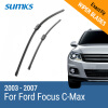 SUMKS Wiper Blades for Ford Focus C-Max 26&19 Fit Side Pin Arms 2003 2004 2005 2006 2007 2pcs set sunkia led number license plate lights pure white color for ford focus c max mk2 03 08 free shipping