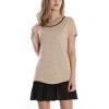 Timeson Новый летний стиль с коротким рукавом Женщины с длинными туниками Tops Patchwork Chiffon Irregular Hem T-shirt Plus Размер