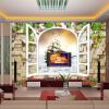 Пользовательские 3d-росписи 3D-стерео пейзажи обои фреска ложные окна гостиная ТВ фон обои пользовательские 3d росписи 3d стерео росписи персонализированные обои тв обои на стенах обои прихожая нефритовая орхидея обои