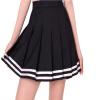 Lovaru ™2015 Новый Мода женские школы в стиле черно случайные плиссированные мини-юбки Модные юбки нашивки прекрасный стиль юбки