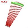 12pcs / lot 30Inches Archery Arrow Алюминиевая стрела позвоночника 300 с прыгающими точками Красные стрелки для 30-80 фунтов Составной лук или длинный лук