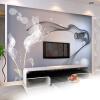Пользовательские обои Mural Персонализированные Нетканые обои для стен Абстрактные современные минималистичные черно-белые обои для ТВ самые дешевые обои для стен брянск