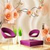 Пользовательские 3D-обои для фото Современная минималистическая мода Роуз-ролл-роуд Роскошные виллы Гостиная ТВ-фон Обои на стенах Домашний декор