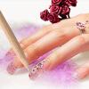 100шт Nail Art оранжевый дерево стик для удаления кутикулы толкателя твой стилист nail art цифровая версия