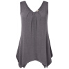 Timeson Summer Sleeveless Irregular Hem Solid Tee Women Tanks Long Loose Tunic Casual Vest Plus Размер XXXL Женские трикотажные то