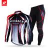 NUCKILY Зимний велосипедный костюм Мужская теплая Прохладный дизайн Длинный Джерси с колготками Спортивная одежда