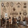 Пользовательские обои Mural для кафе Ресторан Гостиная Стена Зал Cafe Theme Wall Mural Papel De Parede Обои для стен для стен ttou female small standard wallet solid simple pu leather women short wallets hasp vintage lady girls coins purse card holder
