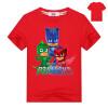 Мультфильм Футболка PJ MASKS Футболка с коротким рукавом Детская одежда для девочек Детская одежда Мальчики Хлопок Летние тисы Дет
