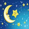 Custom 3D Mural Wall Paper Смазливая мультяшная луна и звезды Фото обои для детской комнаты Спальня Гостиная Главная Декор Живопись
