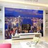 Обои для рабочего стола Красивое здание города Ночной пейзаж 3D настенные росписи Жилая комната Диван Фон Стены Домашний декор Фрески