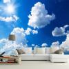 Пользовательские 3D-обои для фото Blue Sky White Clouds Sunshine Landscape Большие фрески Обои для стен Living Room TV Background Decor blue sky чаша северный олень