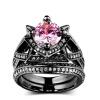 AAA Розовый кубический цирконий Черный золотой цвет обручальное кольцо устанавливает роскошные моды CZ Diamond Ring для женщин Полный размер оптом R618 шкатулка декоративная феникс презент дождь в париже 17 2 х 11 5 х 6 5 см