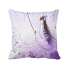 Under Wisteria Chinese Style Watercolor Polyester Toss Throw Pillow Square Cushion Gift custom polyester leaning cushion covers pillowslip 15 7 x 15 7 square throw pillow case