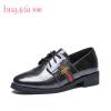 HUANAI Женская Кожаная Обувь на Низких Каблуках