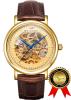 BRIGADA Швейцарские часы Роскошные золотые часы для мужчин, Nice Автоматические полые механические мужские часы