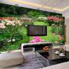 Пользовательские обои 3D Mural Обои Зеленые пейзажи из натурального ландшафта Гостиная Спальня Телевизор Обои для рабочего стола Домашний декор Papel De Parede 3D пользовательские современные простые белые цветы mural обои гостиная спальня интерьер уютный декор обои roll papel de parede цветочный