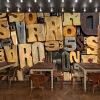 3D фото обои 3D стерео ретро алфавит головоломка большая роспись европейский стиль кофе ресторан магазин чая роспись обои ресторан кофе