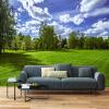 Пользовательские 3D-обои для фото Blue Sky White Clouds Green Grassland Nature Landscape Mural Wall Painting Living Decor Decor Обои blue sky чаша северный олень