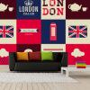 Пользовательские 3D большие росписи Британский флаг Лондон красный Телефон Box Мода Справочная обои гостиная диван диван телевизор телевизор